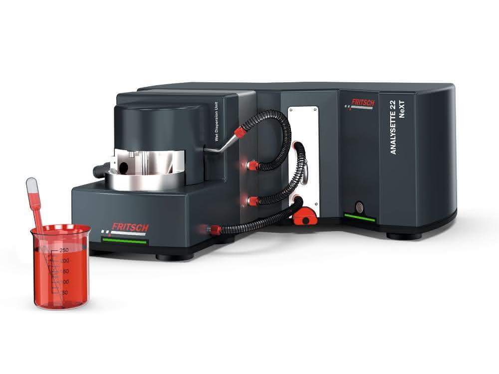 Laser-Partikelmessgerät ANALYSETTE 22 NeXT mit Ultraschallbox