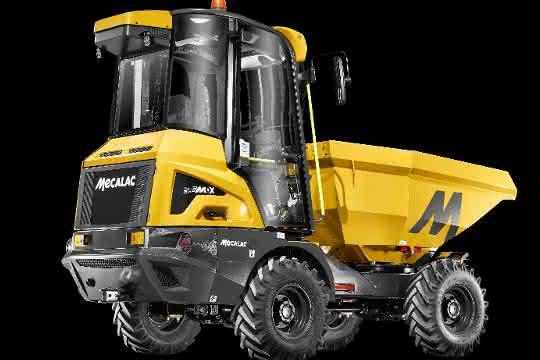 Mecalac präsentiert 3.5MDX Baustellenkipper mit Kabine