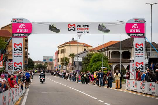 Würth Modyf offizieller Partner des Giro D'Italia 2021
