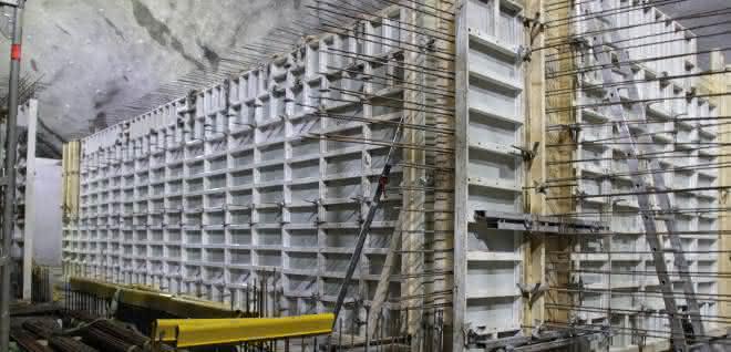 Schaltechnik für den Tunnelbau: AluFix und Mammut 350 trotzen den Herausforderungen