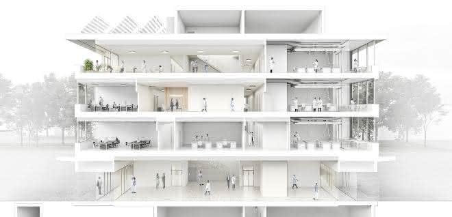 Visualisierung Laborgebäude