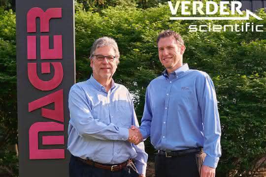 Georg Schick, President Verder Scientific Inc. und Jarrad Lawlor, President Mager Scientific Inc.