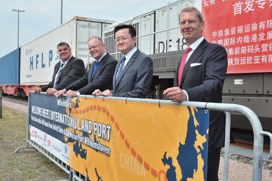 Erster Direktzug aus China erreicht JadeWeserPort Wilhelmshaven