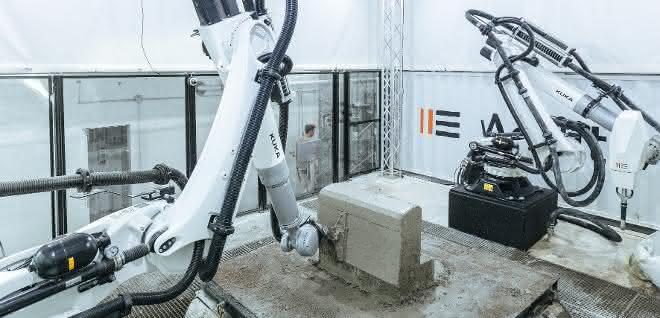 3D-gedruckte Betonteile