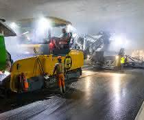 Prozessoptimierung: Straßenbau im breitesten Tunnel der Schweiz