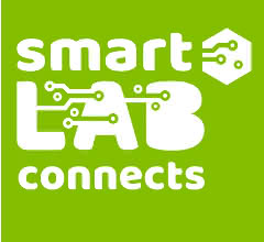 Grünes Logo der SmartLAB connects