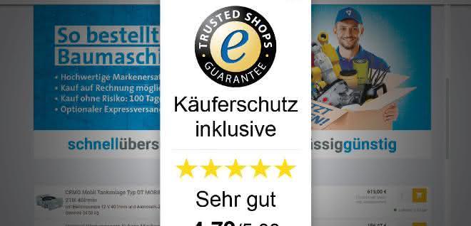 Trusted Shops Zertifizierung für klickparts