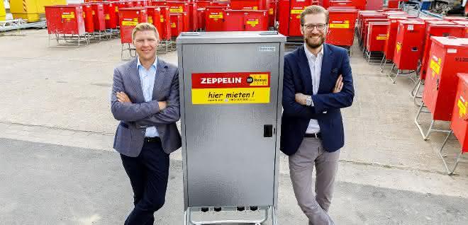 Baustelleneinrichtung: 10.000. Verteilerschrank für Zeppelin Rental