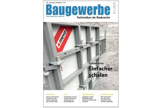 E-Paper Baugewerbe 9/21 erschienen: Nordbau, Nufam und mehr