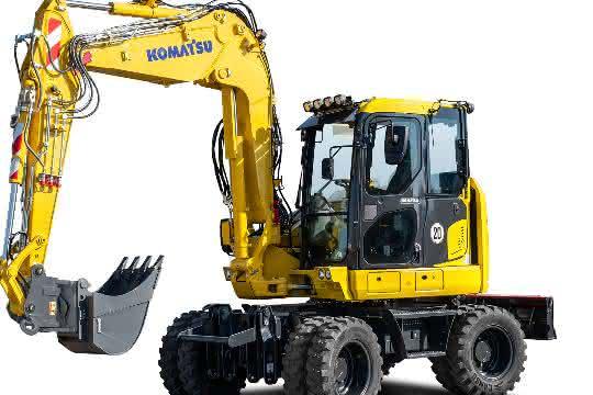 Bagger: Komatsu Europe präsentiert neuen Kompakt-Mobilbagger