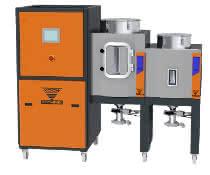 Neu und energieeffizient: der Trockenlufttrockner Eko-N. Hier der Eko-N 200F mit zwei Trocknerbehältern mit jeweils 150 und 60 Liter.