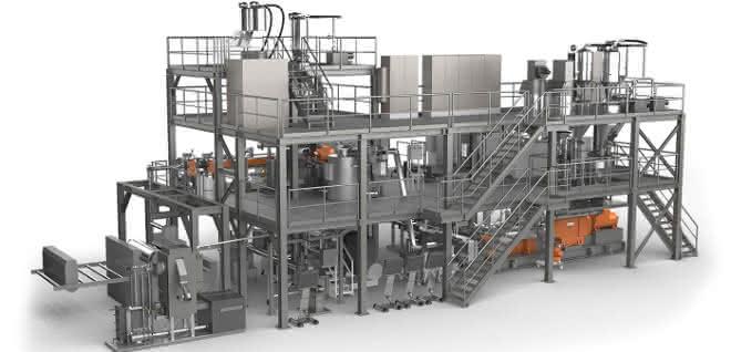 Leistritz Extrusionstechnik: Fakuma Besucher erleben die Details einer Anlage, die den neuesten Stand der Rezyklataufbereitung repräsentiert.