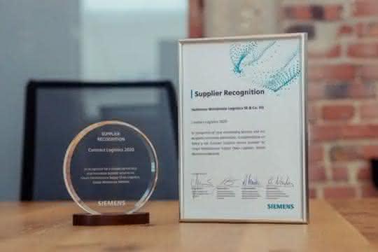 """Hellmann hat die """"Siemens Smart Infrastructure Supplier Recognition"""""""