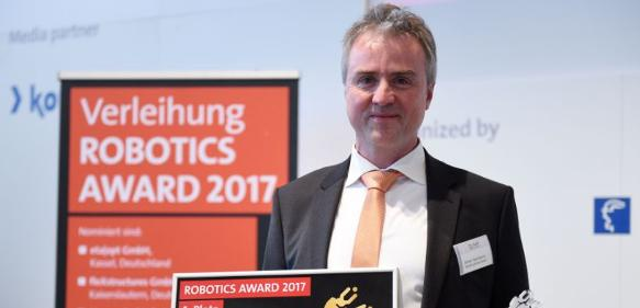HANNOVER MESSE 2017: fleXstructures gewinnt ROBOTICS AWARD 2017