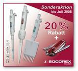 Produkt-News: Sonderaktion für Socorex Mikropipetten