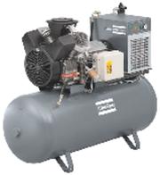 Fluidtechnik (FL): Kleine Kolbenkompressoren mit kompletter Luftaufbereitung