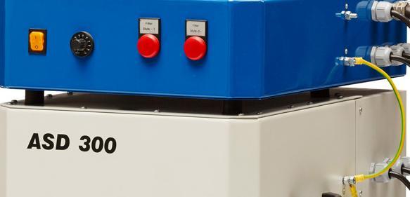 Absaug- und Filtergerät ASD 300 Ex zum Beseitigen explosionsfähiger Stäube (Foto: ULT AG)