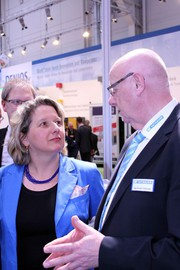 Hannover Messe 2014: NRW-Ministerin Svenja Schulze bei MSF-Vathauer