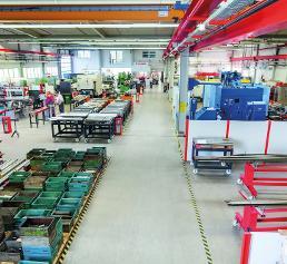 Werkshalle bei FMB Maschinenbau